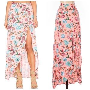 NWT MINKPINK Beach Please Pink Floral Skirt